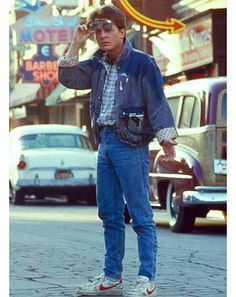 1985: Jeans Stand the Test of Time (Travel) Lucky for us, Doc and Marty traveled through time and proved that jeans will look good no matter where, or when, you are— Marty's throwback pair included.