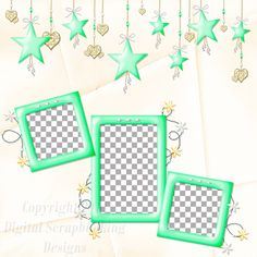 "Layout QP 9A-7 CAFS…..Quick Page, Digital Scrapbooking, Catch A Falling Star Collection, 12"" x 12"", 300 dpi, PNG File Format"