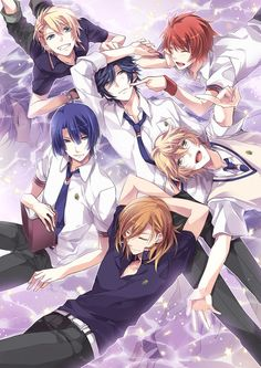 Uta no Prince-sama, oh man I'm going to cry.... if only they were Real and I love to sing along to the songs !!!! Sorry I was fan girling too hard