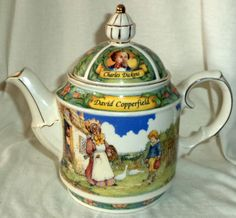 Sadler-Teapot-Charles-Dickens-David-Copperfield-Made-In-England