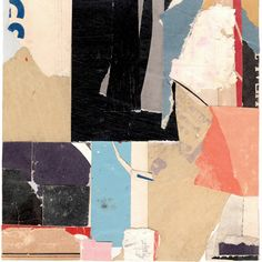 "KRA1109, Carol Gove, paper collage, 6"" x 6"", 2011"