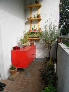 Repurposed IKEA on the balcony