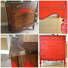 My new love - Moroccan Red.  Old love - Dresser