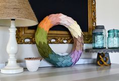felt leaves wreath - other colors on blog