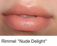 Rimmel lipstick in nude delight