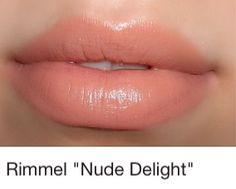 Rimmel lipstick in nude delight Love this color!