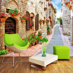 Home Improvement Photo Wallpaper Night Street View Retro Architecture European Mural Wall Paper Living Room Sofa Restaurant Decor Wall Covering Good For Energy And The Spleen Painting Supplies & Wall Treatments