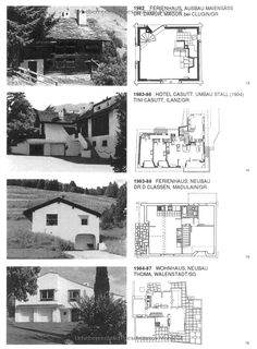 Rudolf Olgiati: Architekt: Amazon.co.uk: Thomas Boga: 9783034603102: Books Architecture Drawings, Modern Architecture, Greece House, Arch House, Architects, Shelter, Floor Plans, Construction, Traditional