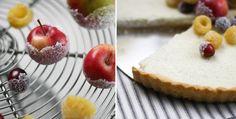Tart med kanderad frukt