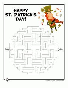 Patrick's Day Activity Sheets Leprechaun Printable Maze – Fantasy Jr.