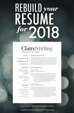 Simple to use resume template; download from Resume Foundry on Etsy, open in Microsoft Word, add your experience and send it off to prospective employers.