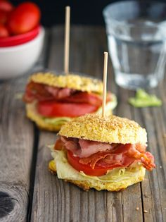 "Cauliflower ""Bagel"" BLT  #justeatrealfood #theironyou"