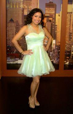 mint short prom dress macys #prom