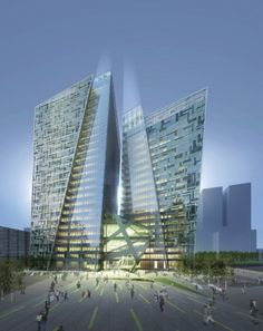 KT Landmark Tower in Seoul by Daniel Liebskin + Gansam Architects