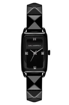 KARL LAGERFELD 'La Petit Kourbe' Pyramid Bracelet Watch, 20mm x 30mm available at #Nordstrom