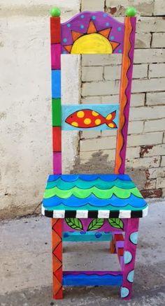 The Dreaming Bear Art Studio: Fishy Chair