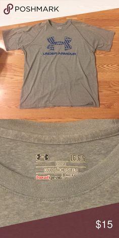 MENS Under Armour t shirt Size L gray UA heat gear t shirt Under Armour Shirts Tees - Short Sleeve