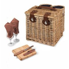 Picnic Time 'Vino' Wine & Cheese Picnic Basket (265 PLN) ❤ liked on Polyvore featuring home, kitchen & dining, food storage containers, picnic, blue, picnic tote, wicker baskets, blue wicker basket, storage baskets and blue basket