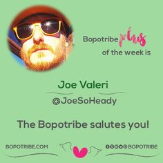 Thank you joe for your support of the bopotribe!