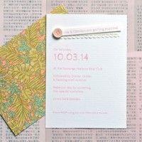 Spring in Paris Handmade Wedding Invite