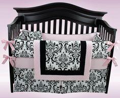 Emily- light pink- 5 piece bedding set. $309.00, via Etsy.