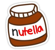 Cute Tumblr Nutella Pattern Sticker