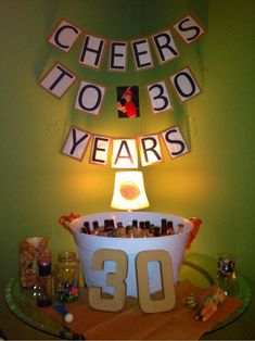 30th Birthday Decoration Ideas For Husband – Oh Decor Curtain