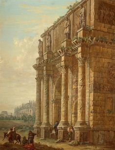 Constantine Triumphal Arch in Rome by Charles-Louis Clérisseau