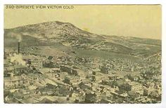 COLORADO-Victor-detailed-Town-view-1915-postcard-CO