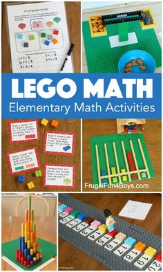 LEGO Math Activities for Elementary Kids - Frugal Fun For Boys and Girls Addition Activities, Kindergarten Math Activities, Stem Activities, Math Games, Learning Activities, Learning Stations, Teaching Strategies, Educational Activities, Teaching Math