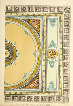 Design for a ceiling Altar Design, Map Design, Roof Design, Ceiling Art, Ceiling Design, Wall Patterns, Painting Patterns, Decoration, Art Decor