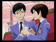 Kyoya and Haruhi from the Ouran DS game.