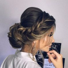Easy Boho Hairstyle For Long Hair - 20 Trendy Half Braided Hairstyles - The Trending Hairstyle Bride Hairstyles, Pretty Hairstyles, Wedding Hair And Makeup, Hair Makeup, Hair Wedding, Natural Hair Styles, Short Hair Styles, Wedding Hair Inspiration, Bridesmaid Hair