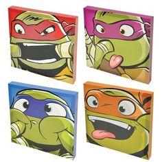 Make his walls pop with this fun Teenage Mutant Ninja Turtles wall art set. Teenage Mutant Ninja Turtles, Baby Ninja Turtle, Ninja Turtle Party, Teenage Turtles, Ninja Turtle Room Decor, Ninja Turtle Decorations, Ninja Turtle Crafts, Mini Canvas Art, Canvas Wall Art