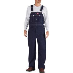 Dickies Big Men's 11.75 oz. 100% Cotton Indigo Bib Overalls, Size: 36 x 30, Blue