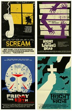 Minimalist Movie Posters: Scary Movie Edition