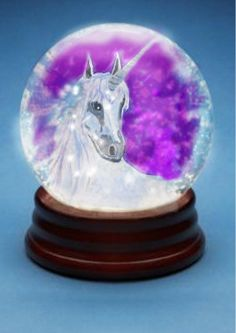 Unicorn Snowglobe, I know someone who should have this