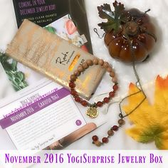 This month is AMAZING. I love it when YogiSurprise does fall colors. What is Yogi Surprise? Yogi Surprise Jewelry Box 2 handmade pieces + 1 organic treat Handcrafted in Bali. Fair Trade $65+ re…