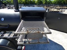 Smoker Trailer Wood x Charcoal Pit Wood Cage BBQ Cooker – Famous Last Words Bbq Smoker Trailer, Bbq Pit Smoker, Trailer Smokers, Homemade Smoker, Bbq Pitmasters, Food Truck Design, Keep Food Warm, Grilling Tips, Smokehouse