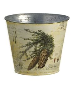 Take a look at this Juniper Decoupage Bucket by Allstate Floral & Craft on #zulily today! $12 !!