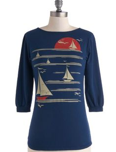 9f9a5092 All's Fair in Love and Wharf Tee by Blue Platypus - Cotton, Blue, Novelty  Print…