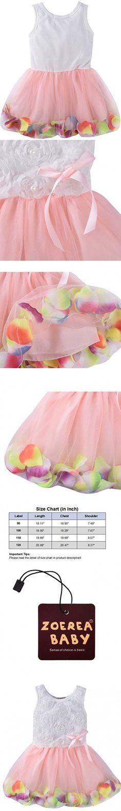 ZOEREA Kids Baby Girls Dress Princess Flower Petal Lace Ruffled Tulle Skirts