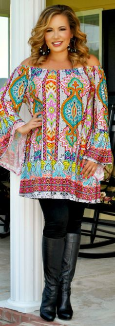 Perfectly Priscilla Boutique - Gypsy Queen Darling Tunic, $37.00 (http://www.perfectlypriscilla.com/gypsy-queen-darling-tunic/)