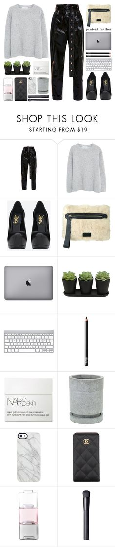 """""""mono with chrome"""" by igedesubawa ❤ liked on Polyvore featuring Proenza Schouler, MANGO, Yves Saint Laurent, Marc by Marc Jacobs, NARS Cosmetics, Uncommon, Chanel, LSA International, StreetStyle and contest"""