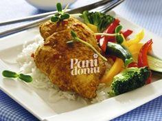 Pierś z kurczaka w curry gotowana na parze Chicken, Meat, Cooking, Food, Kitchen, Eten, Meals, Cubs, Cuisine