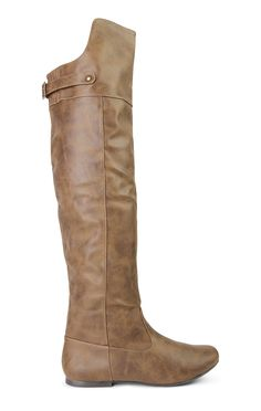 Deb Shops Flat Over the Knee Boots with Buckle Back $27.90