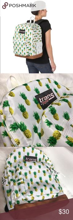 "🆕Jansport Pineapple Laptop backpack NEW without tags  Multiple compartments give you the space to store your notebooks, gym clothes, laptop and more Main Compartment- zip closure Outer mesh pocket  17"" x 12.5"" x 8.25""  Polyester Spot clean with damp cloth   Interior padded Pocket fits laptop up to 16"" Jansport Bags Backpacks"