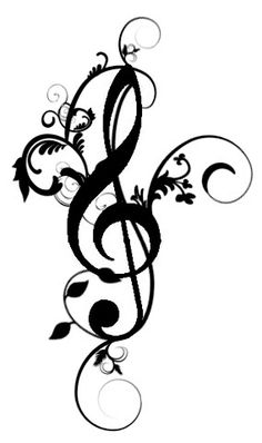 treble clef tattoo designs | Pin Picture Library Treble Clef Tattoo on Pinterest