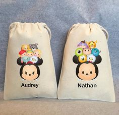 10 TSUM TSUM Mickey Mouse Party Favor Bags by owlwaysremember
