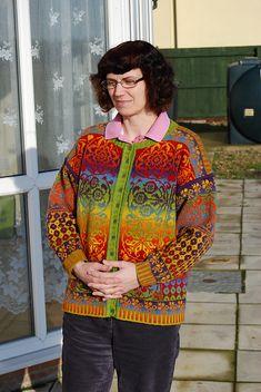 allover-al's Sirkler Cardigan Double Knitting, Lace Knitting, Knitting Patterns, Knit Crochet, Sweater Coats, Knit Cardigan, Fair Isle Chart, Fair Isle Knitting, Yarn Projects